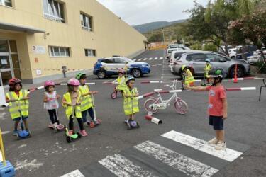 Visita de la policía en el Kindergarten
